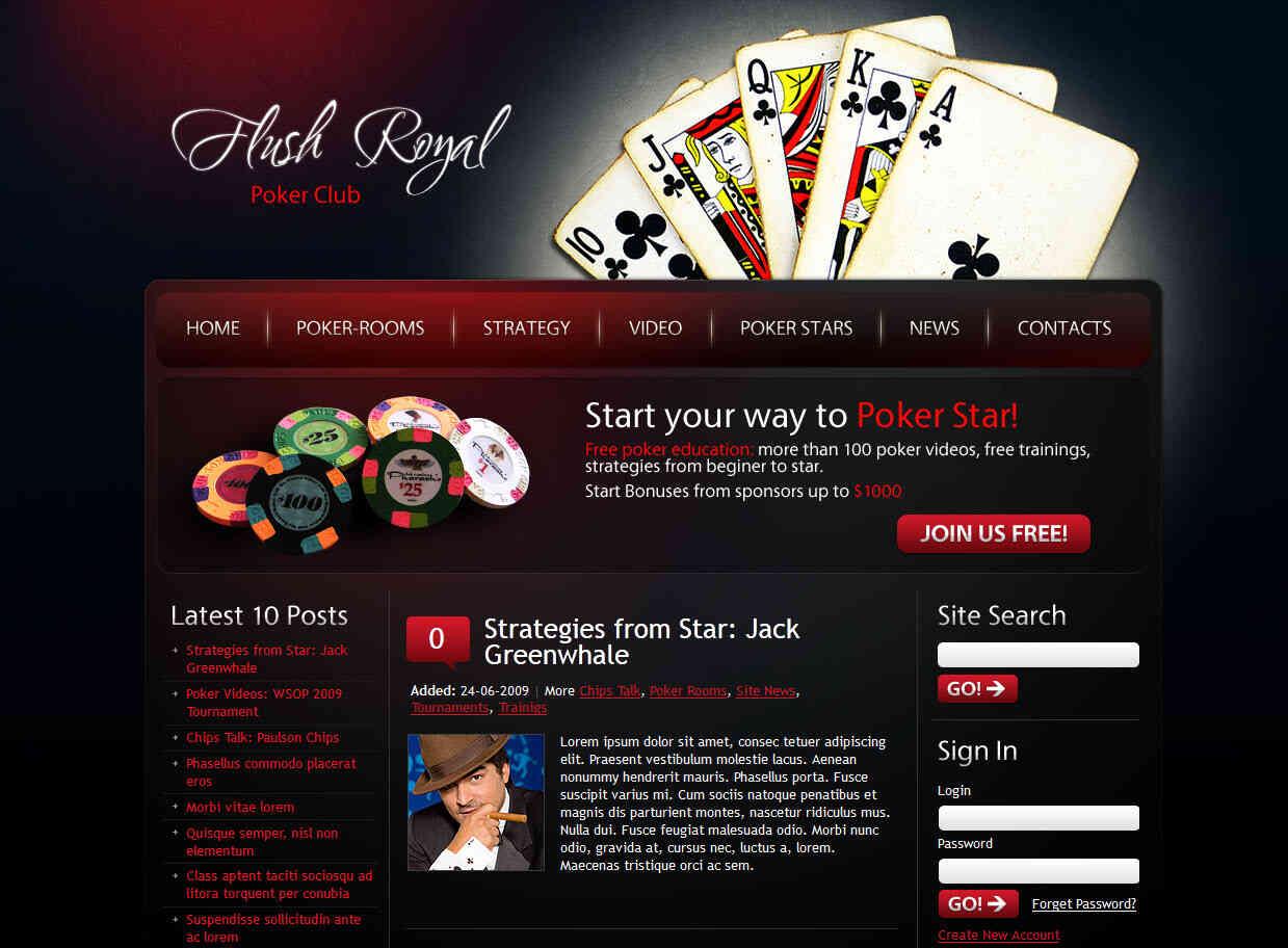 Шаблоны готовых сайтов казино игратьбесплатно в игровые слоты адмирал